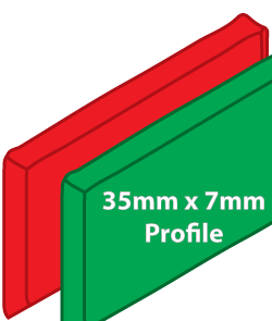 35mm x 7mm Profile Size